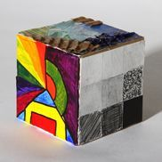 Elements Cube - Churchill High School - Visual Art 3D-- this will go great with our cube lesson.