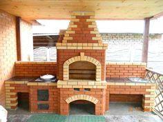 35 ideas for garden kitchen grill barbecue Barbecue Garden, Barbecue Grill, Grilling, Outdoor Oven, Outdoor Cooking, Parrilla Exterior, Brick Bbq, Four A Pizza, Outdoor Kitchen Design