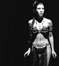 slave leia   Raiders of the Lost Tumblr Carrie Frances Fisher, Princess Leia Slave, Princesa Leia, Leia Star Wars, Star Wars Episode Iv, Star Wars Girls, War Photography, Star Wars Toys, Sweet Memories