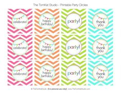 The TomKat Studio: Our Favorite Party Crafting Supplies + Free Printable Chevron Birthday Party Circles