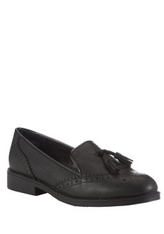 Clothing at Tesco | F&F Leather Tassel School Brogues > shoes > Shoes > School Uniform