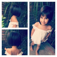 Toddler bobs are the best. Toddler bobs are the best. Toddler Bob Haircut, Little Girl Bob Haircut, Kids Short Haircuts, Aline Haircuts, Baby Haircut, Bob Hairstyles For Fine Hair, Baby Girl Hairstyles, Corte Bob, The Best