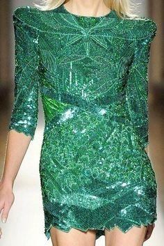 Emerald color dress