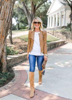 Fall Transition | Knee Boots & Moto Jacket