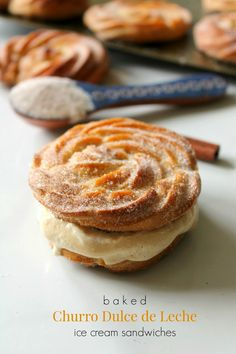 ... Dulce de Leche Ice Cream Sandwiches   Recipe   Churro, Ice and Cream