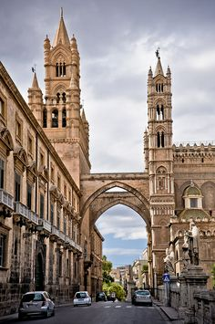 Palermo Cathedral and Gate, Sicily, Italy