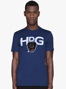 GIVENCHY NAVY BLUE DOG HEAD T-SHIRT