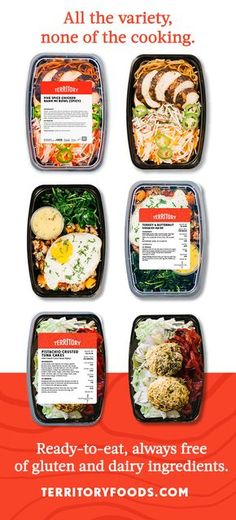 Looking for healthy meals, delivered? Territory foods is variety, ease and healthy goodness at your fingertips. Seriously delicious prepared meals in personalized weekly plans crafted by chefs and nutritionists to feed your active life. We have up to 160 meal choices every week, with menus changing weekly. Whether you follow Macros, Paleo, Mediterranean, Veggie (and more) our meals are always free of gluten and dairy ingredients. Tired of the same old? Get some Territory in your life.