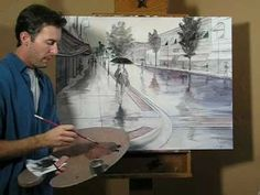 Rainy Day Painting - Very talented artist!!!