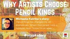 [TESTIMONIAL] Why do artists choose Pencil Kings? Hear why Micheala Katrina loves being part of out #art community!