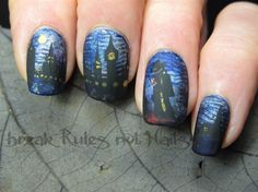 Jack the Ripper nails by brkrulesntnails - Nail Art Gallery nailartgallery.nailsmag.com by Nails Magazine www.nailsmag.com #nailart