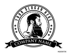 Vector: man beard logo