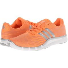 adidas A.T. 360.2 Prima Women's Cross Training Shoes, Orange featuring polyvore, fashion, shoes, athletic shoes, orange, laced up shoes, laced shoes, adidas athletic shoes, cross training shoes and adidas footwear