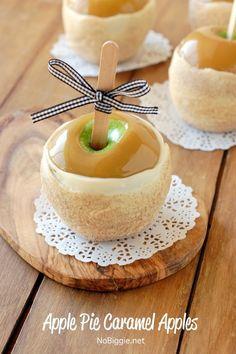 apple pie caramel apples - step by step   NoBiggie.net