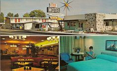 Miss the old travel Motels. Whenever we had a warning of an impending hurricane, we would go to San Antonio, and stay in a motel, kind of like this!  I thought we must be really rich, to be able to do all of this cool stuff!