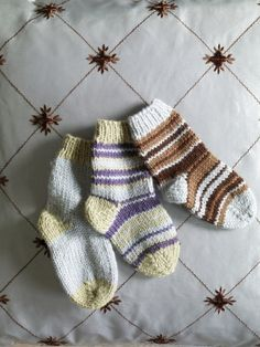 Socks like these cute striped ones are perfect for a quick finish project