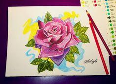 Rose tattoo design by @ankafaink