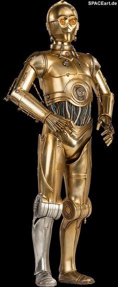 Star Wars: C-3PO, Voll bewegliche Deluxe-Figur ... http://spaceart.de/produkte/sw039.php