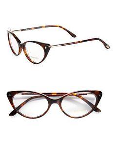 Tom Ford Eyewear - Modern Cat's-Eye Plastic Eyeglasses - Saks.com