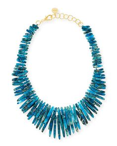 Turquoise Jasper Spike Necklace by Nest at Neiman Marcus.
