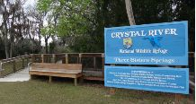 Crystal River Refuge home page.  Three Sisters Springs open or closed is found on Facebook.