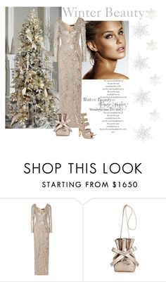 """""""Winter Beauty"""" by katiethomas-2 ❤ liked on Polyvore featuring Jenny Packham and Jimmy Choo"""