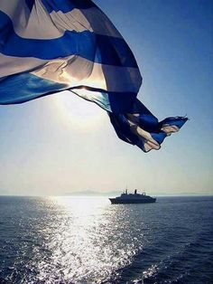 and Greek flag Φωτογραφία Greek Flag, Go Greek, Acropolis, Rumble In The Jungle, Flags Of The World, Paros, Ancient Greece, Greek Islands, Santorini