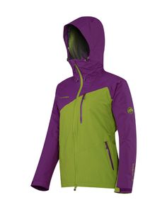 """Maudit #Jacket #Women#Mammut Functional and fashionable two-layer Drytech jacket equipped with a wide range of details: the lining in the sleeve area has a """"Diamond Cut"""" to support breathability, while the two-way underarm ventilation and easily adjustable hood ensure maximum outdoor fun. The modern reworked design also guarantees an """"eye-catching"""" look in the city as well."""