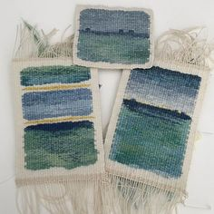 Another ocean memory. This one may go to Knoxville for ATA's unjuried small format exhibit. Weaving Designs, Weaving Projects, Weaving Art, Tapestry Weaving, Loom Weaving, Small Tapestry, Yarn Thread, Tapestry Design, Woven Wall Hanging