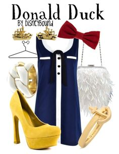 """""""Donald Duck"""" by leslieakay ❤ liked on Polyvore"""