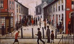 Lowry, Laurence S. - 1935 The Fever Van (Walker Art Gallery, Liverpool, England) Salford, Glasgow, Tate Britain, Walker Art, Perspective Drawing, Point Perspective, English Artists, Le Havre, Portraits