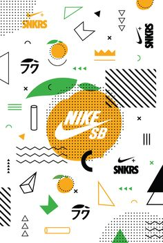 Unlock coveted sneakers by viewing certain images via the camera function on SNKRS. Gfx Design, Nike Design, Retro Design, Sports Graphic Design, Graphic Design Typography, Nike Poster, Nike Snkrs, Memphis Pattern, Momofuku
