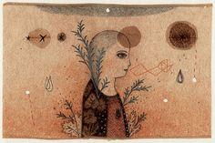 Les étoiles  Original drawing on tea bag by by grivemuneshop