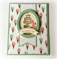 Stampin' Up - Pals Paper Arts Sketch #300 - Shaker Cards - Endless Birthdays…