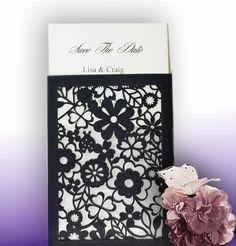 NERO BELLO Mini Black Floral Laser Cut Wallet [NER1] - £0.81 : Syntego