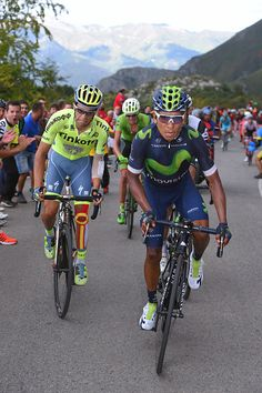 Tour of Spain 2016 Stage 10 Nairo QUINTANA / Alberto CONTADOR / Tim de Waele
