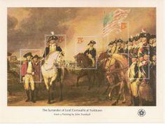 US Scott #1686 1976 The Surrender of Lord Cornwalls at Yorktown 13c sheet MNH