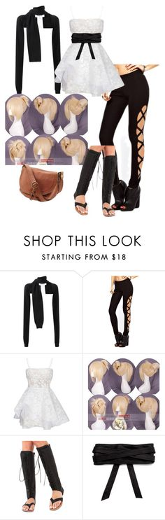 """""""Untitled #106"""" by nova-stellar on Polyvore featuring MM6 Maison Margiela, Alex Perry, Coshome, Akira Black Label, Lucky Brand and Elegantly Waisted"""