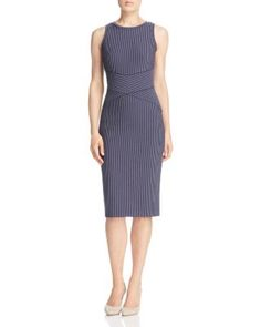 MICHAEL Michael Kors Pinstripe Sheath Dress | Bloomingdale's