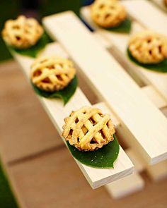 Miniature Pies    Miniature pies were served by Peter Callahan as part of the dessert bar.