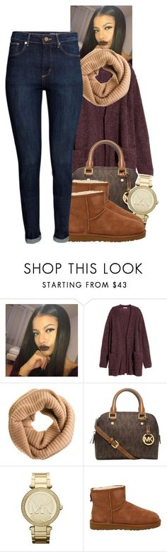 """unbothered"" by tonibalogni ❤ liked on Polyvore featuring moda, H&M, J.Crew, Michael Kors, MICHAEL Michael Kors ve UGG Australia"