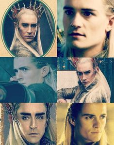 Thranduil and Legolas. there is kind of a resemblance ... I guess Orlando could be his spawn
