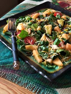 Southwestern Salad with Cantaloupe