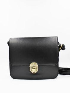 Vintage leather shoulder bag - Black - Sunny Girl Boutique