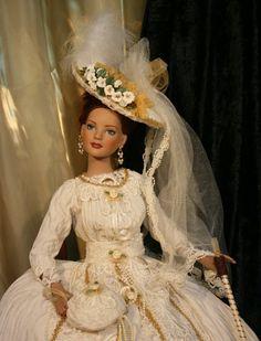 TONNER - American Model - VICTORIAN Bride Doll Wedding Dress Outfit - OOAK. $160.00, via Etsy.