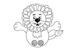 Free PDF - lion finger puppet