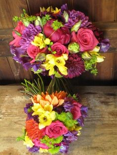 I know you don't really like pink, but this is a really great summer bouquet. but you could always play with the arrangement--i like the different textures though