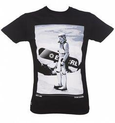 Men's Black Star Wars Snow Trooper T-Shirt from Chunk
