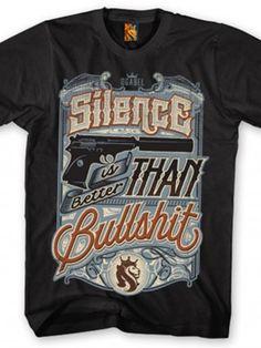 """Men's """"Silence"""" Tee by OG Abel (Black)"""