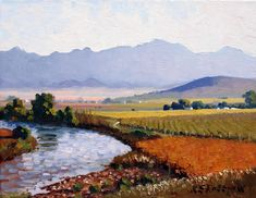 Artwork of Roelof Rossouw exhibited at Robertson Art Gallery. Original art of more than 60 top South African Artists - Since Blue Artwork, Cool Artwork, V&a Waterfront, Blue Boat, South African Artists, Original Art, Landscapes, Art Gallery, Painting